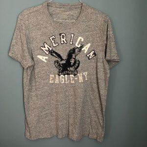American Eagle Men's T-shirt Light Gray Size L